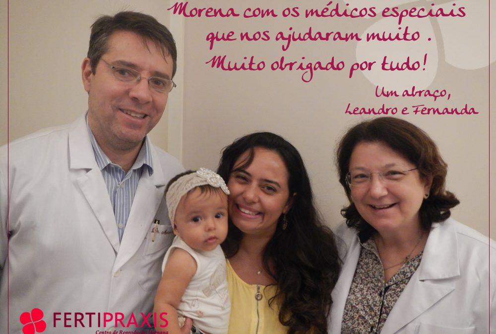 Morena, mais uma bebê Fertipraxis