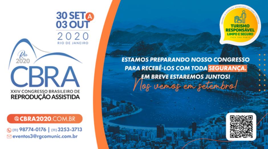 SBRA realiza Congresso Brasileiro de Reprodução Assistida em setembro, no Rio de Janeiro, seguindo protocolo de prevenção à Covid-19